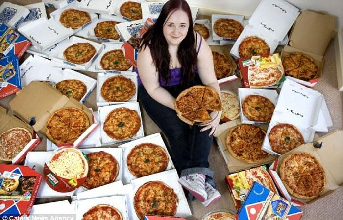 Donna americana mangia una pizza al giorno per 40 anni