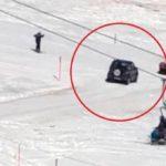 Un anziano di 90 anni invade la pista da sci con l'auto: volevo andare al ristorante