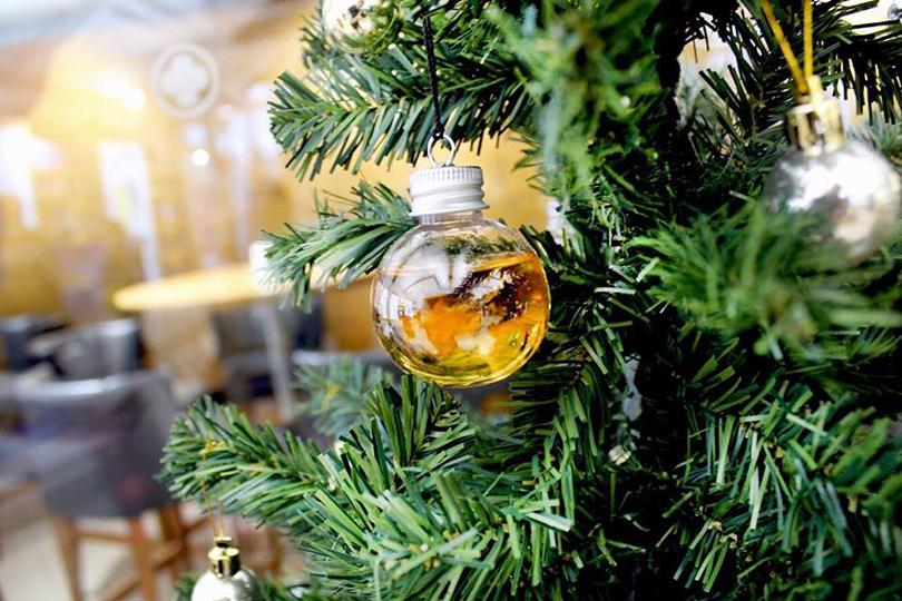 Arrivano le decorazioni natalizie piene di alcol per superare le feste