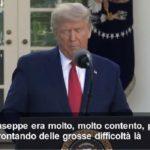 """Coronavirus, Trump: """"Invieremo 100 milioni di dollari di materiale chirurgico all'Italia"""""""
